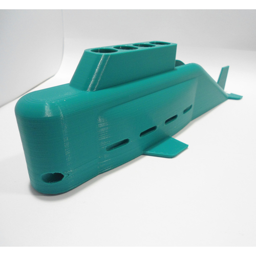 Submarine Pens and Business Cards Holder 3D Print 228665