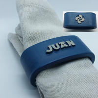 Small JUAN 3D Napkin Ring with lauburu 3D Printing 228704