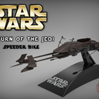 Small Star Wars - Return of the Jedi Speeder Bike 3D Printing 228740