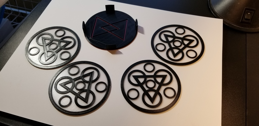 "Coheed and Cambria ""Keywork"" Coaster Set 3D Print 228995"