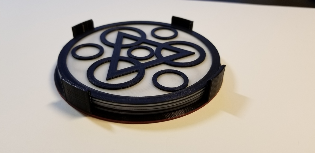 "Coheed and Cambria ""Keywork"" Coaster Set 3D Print 228996"
