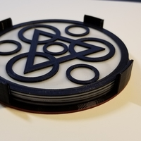 "Small Coheed and Cambria ""Keywork"" Coaster Set 3D Printing 228996"