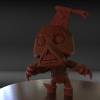 Small Stylized Cute Zombie 3D Printing 229034