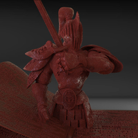 Small Stylized Fantasy Knight 3D Printing 229043
