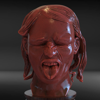 Small Realistic Disgust Girl 3D Printing 229121