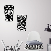 Small African mask wall decoration  2 Masks  3D Printing 229224