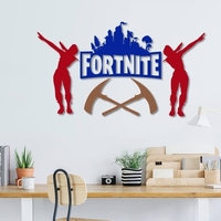 Small Fortnite wall decoration  set of 4 models  3D Printing 229229