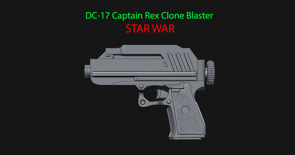 DC-17 Captain Rex Clone Blaster for cosplay - from Star war 3D Print 229243