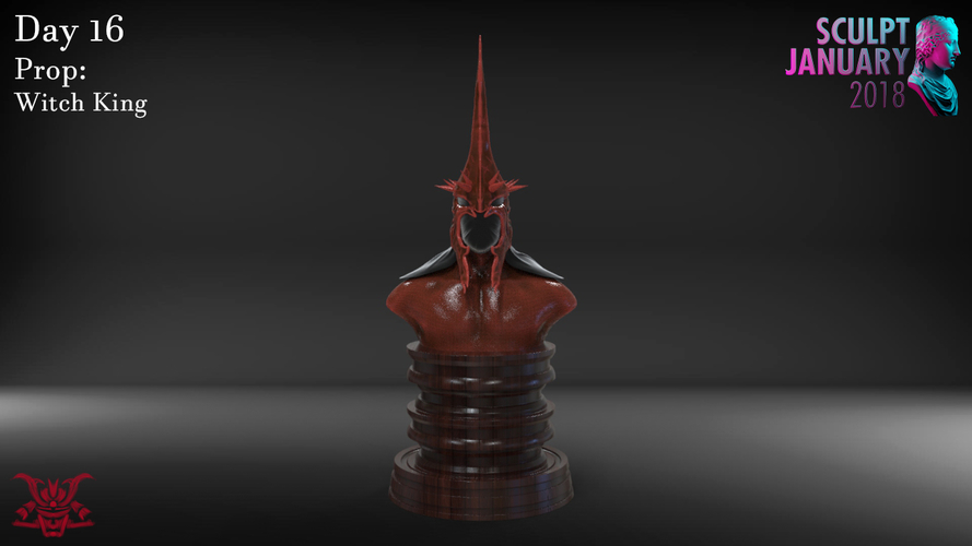 The Witch King Helmet 3D Print 229244