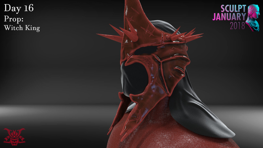 The Witch King Helmet 3D Print 229247