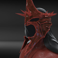 Small The Witch King Helmet 3D Printing 229247