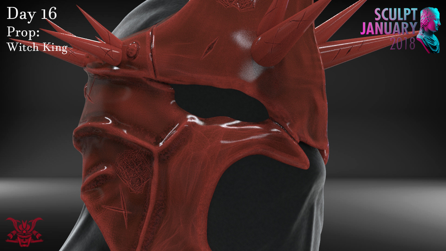 The Witch King Helmet 3D Print 229249