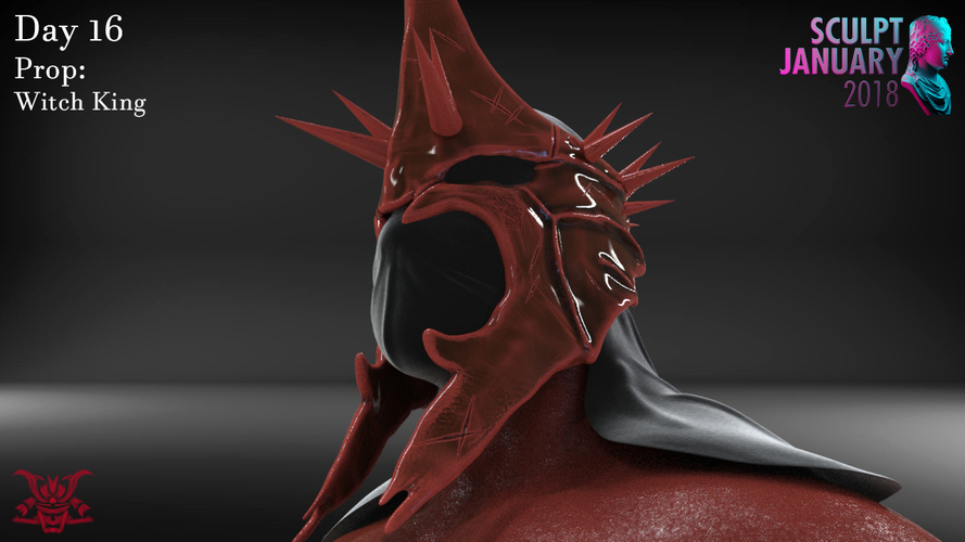 The Witch King Helmet 3D Print 229250