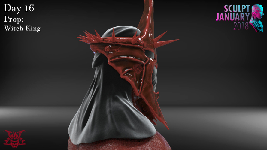 The Witch King Helmet 3D Print 229251