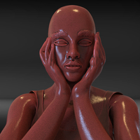 Small Bored Girl Sculpture 3D Printing 229261