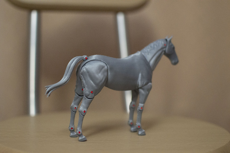 1:18 + 1:12  Scale  Articulated Horse Figure. 3D Print 229270