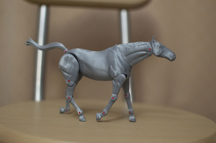 1:18 + 1:12  Scale  Articulated Horse Figure. 3D Print 229271