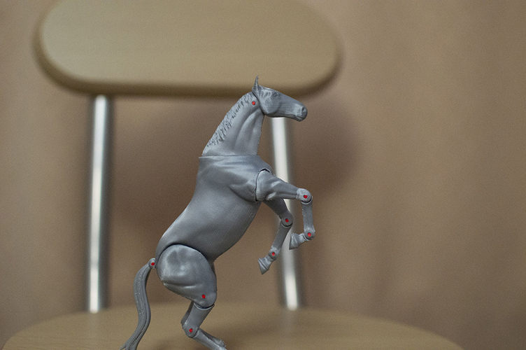 1:18 + 1:12  Scale  Articulated Horse Figure. 3D Print 229272