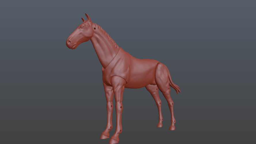 1:18 + 1:12  Scale  Articulated Horse Figure. 3D Print 229274