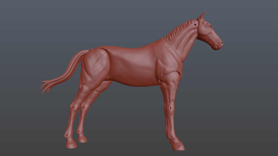 1:18 + 1:12  Scale  Articulated Horse Figure. 3D Print 229275