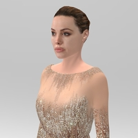 Small Angelina Jolie figurine ready for full color 3D printing 3D Printing 229337