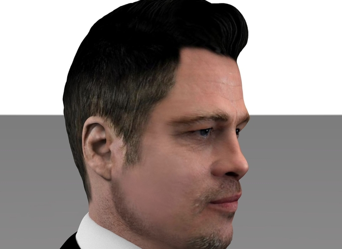 Brad Pitt figurine ready for full color 3D printing 3D Print 229363