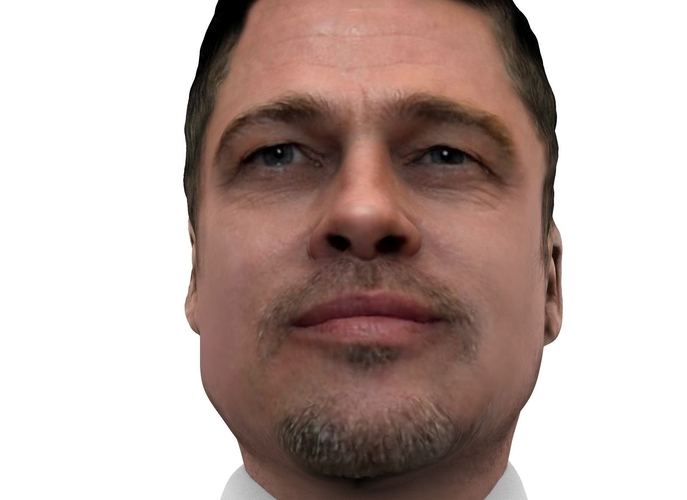 Brad Pitt figurine ready for full color 3D printing 3D Print 229364