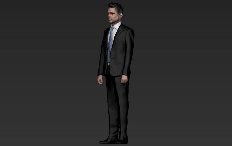 Brad Pitt figurine ready for full color 3D printing 3D Print 229366