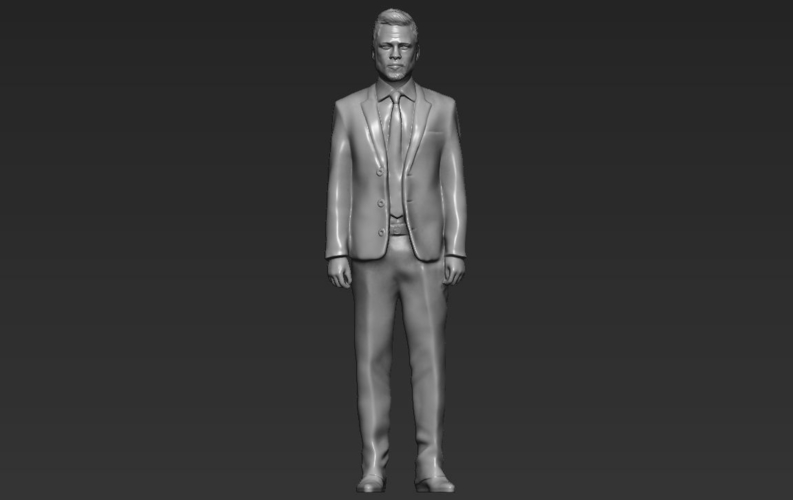Brad Pitt figurine ready for full color 3D printing 3D Print 229369