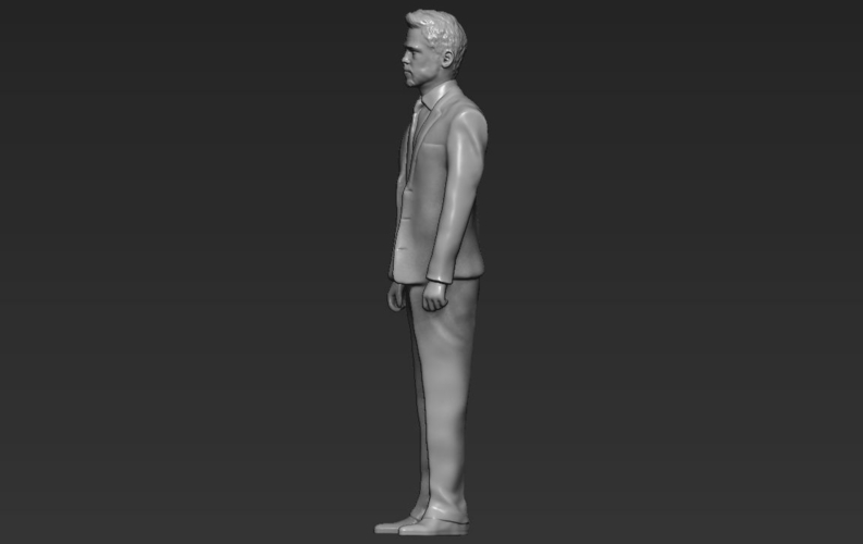 Brad Pitt figurine ready for full color 3D printing 3D Print 229371