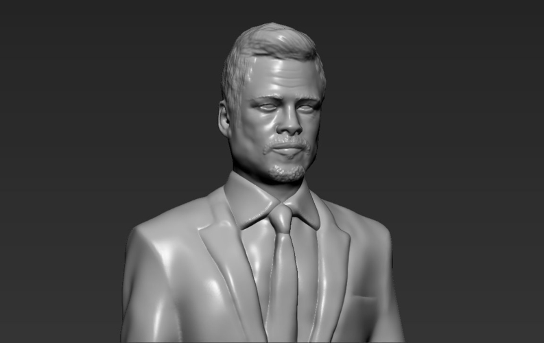 Brad Pitt figurine ready for full color 3D printing 3D Print 229373