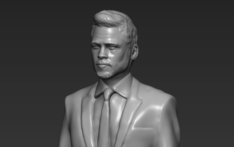 Brad Pitt figurine ready for full color 3D printing 3D Print 229374