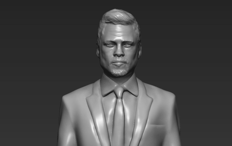 Brad Pitt figurine ready for full color 3D printing 3D Print 229375