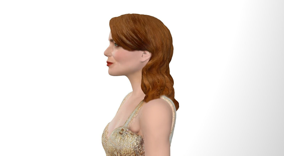 Emma Stone figurine ready for full color 3D printing 3D Print 229379