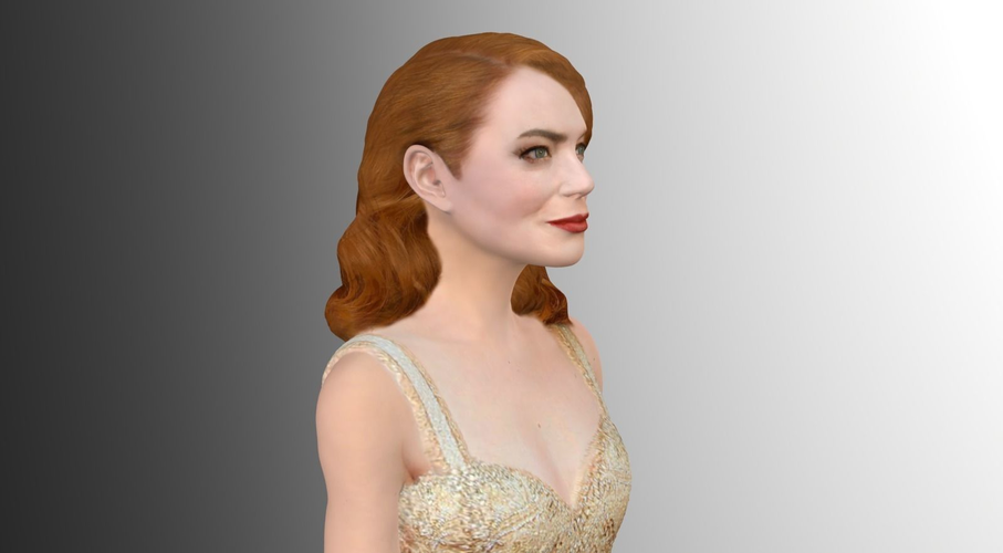 Emma Stone figurine ready for full color 3D printing 3D Print 229380