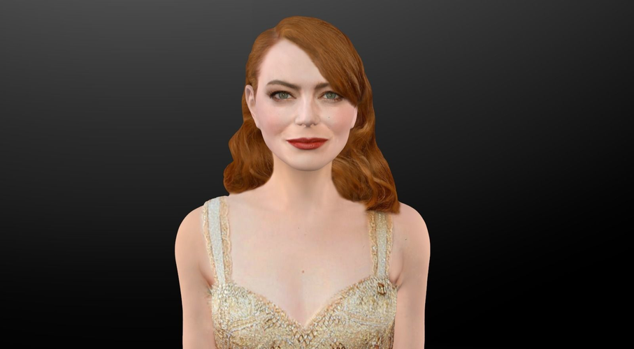 Emma Stone figurine ready for full color 3D printing 3D Print 229383