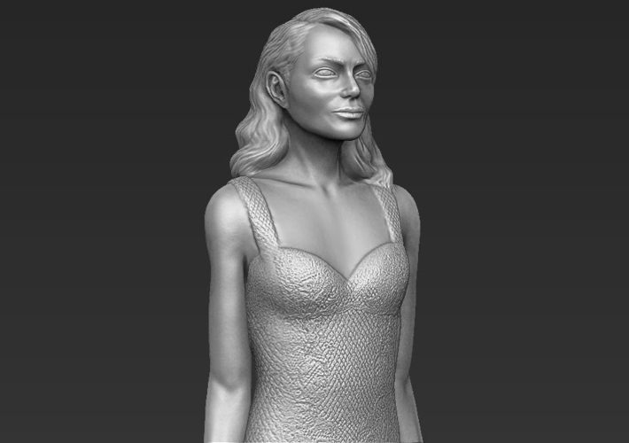 Emma Stone figurine ready for full color 3D printing 3D Print 229384