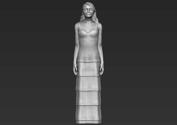 Emma Stone figurine ready for full color 3D printing 3D Print 229385