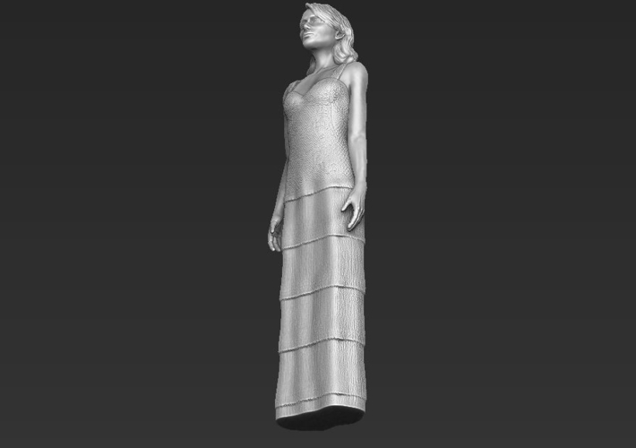 Emma Stone figurine ready for full color 3D printing 3D Print 229389