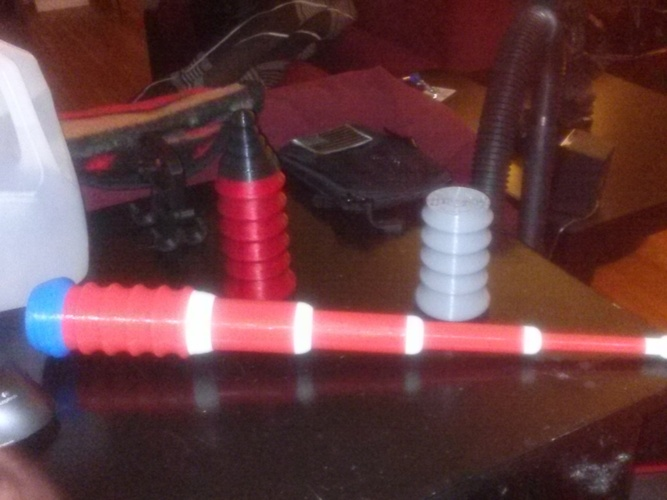 100% 3D Printed Baton / LIGHTSABER - Prints in ONE PRINT - ALREA 3D Print 22944