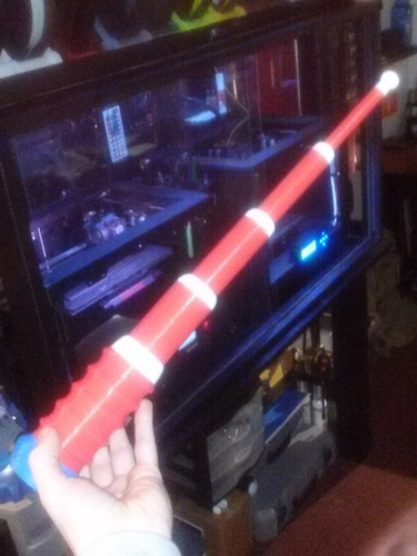 100% 3D Printed Baton / LIGHTSABER - Prints in ONE PRINT - ALREA 3D Print 22945