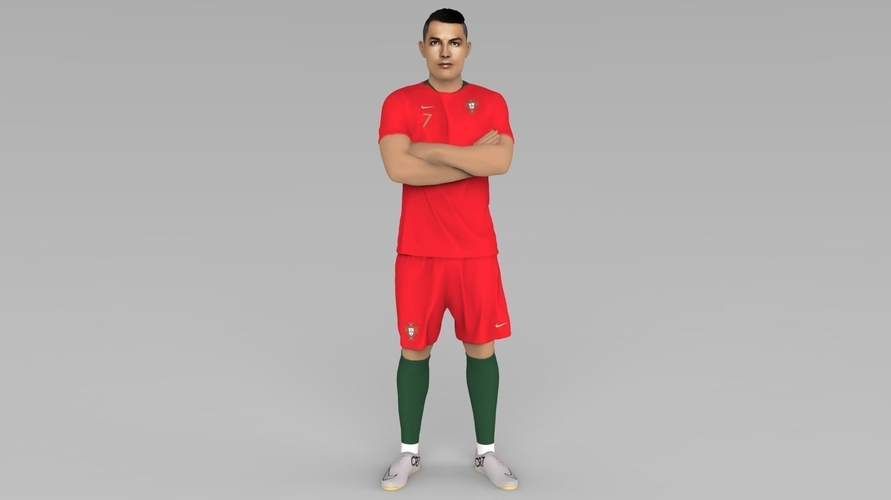 Cristiano Ronaldo Portugal ready for full color 3D printing 3D Print 229454