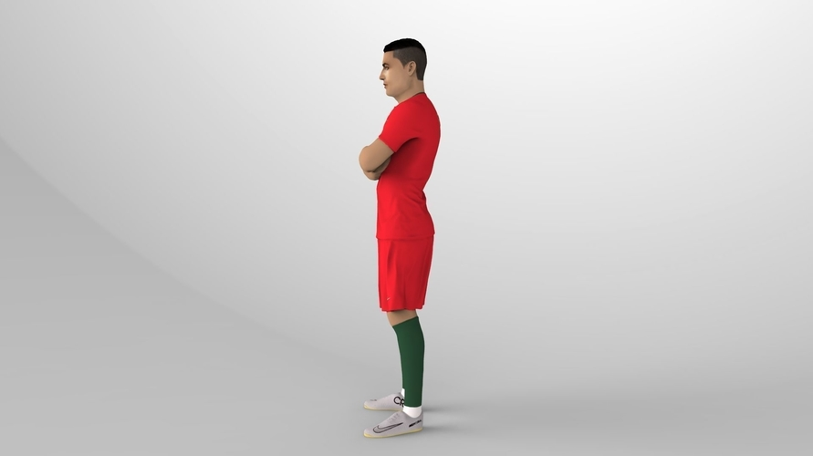 Cristiano Ronaldo Portugal ready for full color 3D printing 3D Print 229456