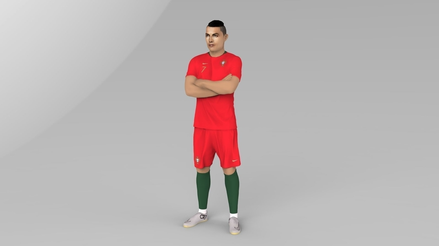 Cristiano Ronaldo Portugal ready for full color 3D printing 3D Print 229457