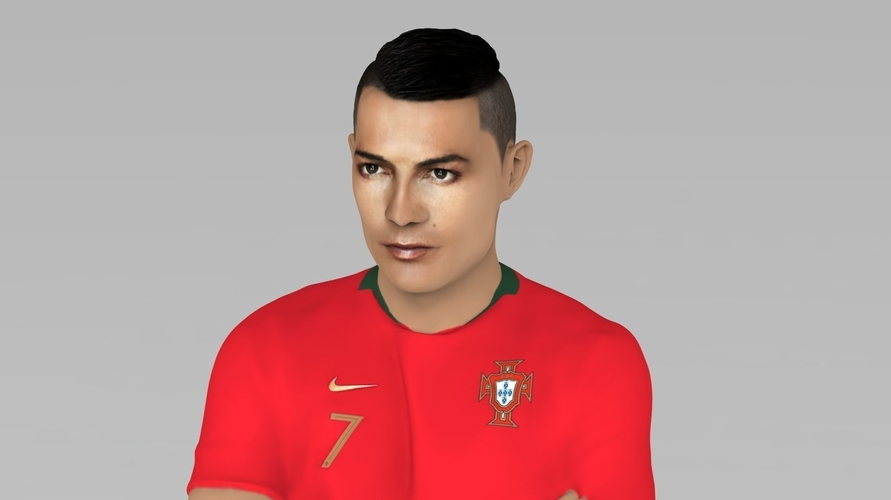 Cristiano Ronaldo Portugal ready for full color 3D printing 3D Print 229458
