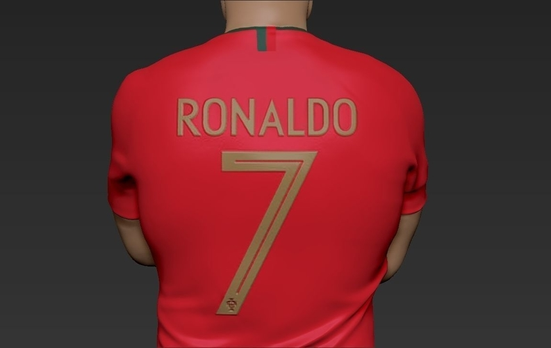 Cristiano Ronaldo Portugal ready for full color 3D printing 3D Print 229459