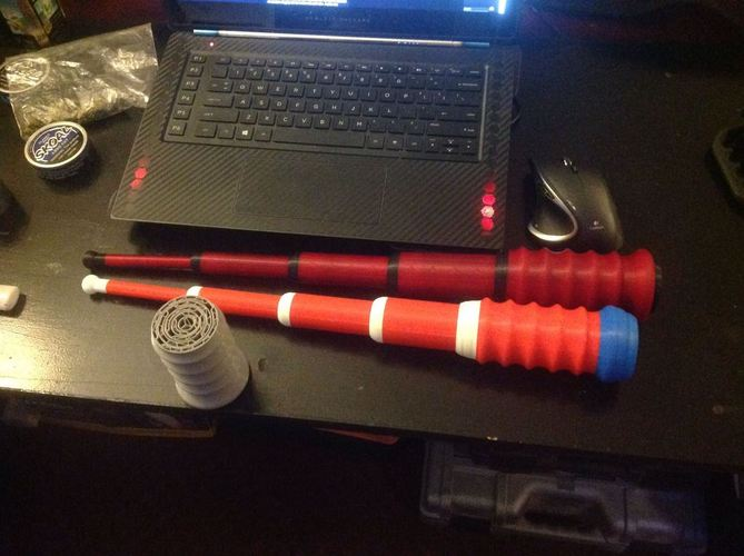 100% 3D Printed Baton / LIGHTSABER - Prints in ONE PRINT - ALREA 3D Print 22946