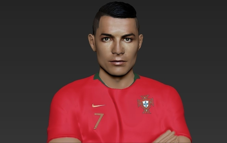 Cristiano Ronaldo Portugal ready for full color 3D printing 3D Print 229460