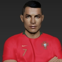 Small Cristiano Ronaldo Portugal ready for full color 3D printing 3D Printing 229460
