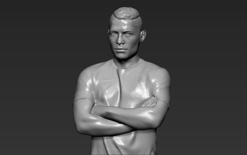 Cristiano Ronaldo Portugal ready for full color 3D printing 3D Print 229467